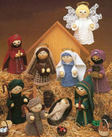 Presepe all'uncinetto