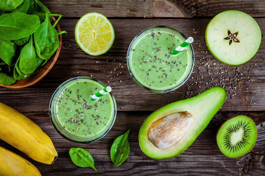 Smoothie kiwi e avocado