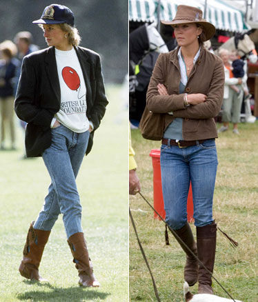 Lady Diana e Kate Middleton casual