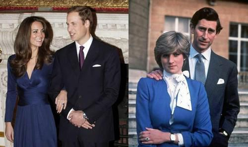 Lady Diana e Kate Middleton stesso anello