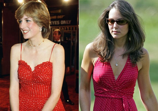 Lady Diana e Kate Middleton vestitino pois