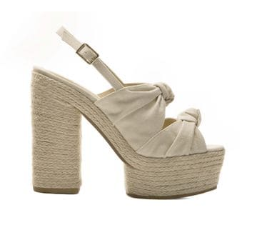 Scarpe Knotted Canvas Abbey