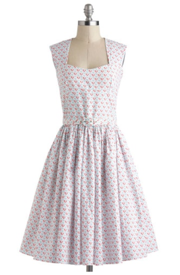 Abito Little Hearts di Modcloth