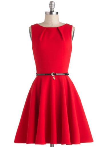 Abito rosso Lucky Be a Lady Modcloth