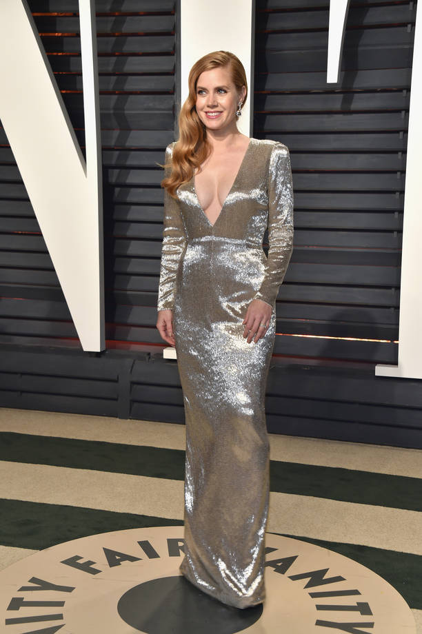 Amy Adams in abito argento Tom Ford