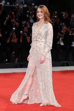 Emma Stone red carpet in Louis Vuitton