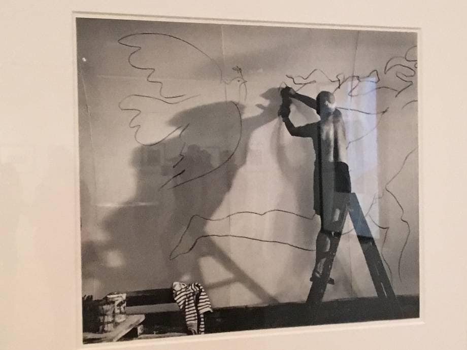 Picasso mentra dipinge. Dalla mostra Picasso Images, Museo Ara Pacis