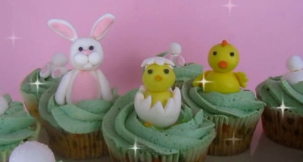 Decorazioni per cupcake pasquali | Video tutorial