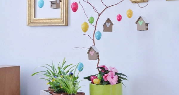Albero pasquale con uova decorate | Video tutorial
