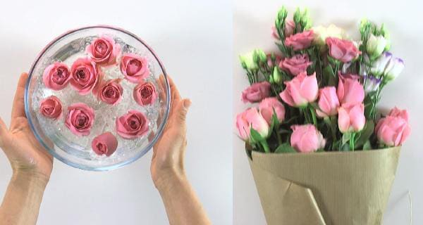 4 idee decorative con i fiori | Video tutorial