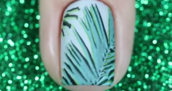 Nail art fantasia tropicale | Video tutorial